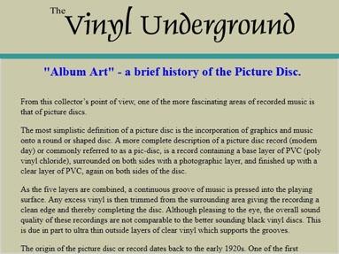Vinyl Underground Article