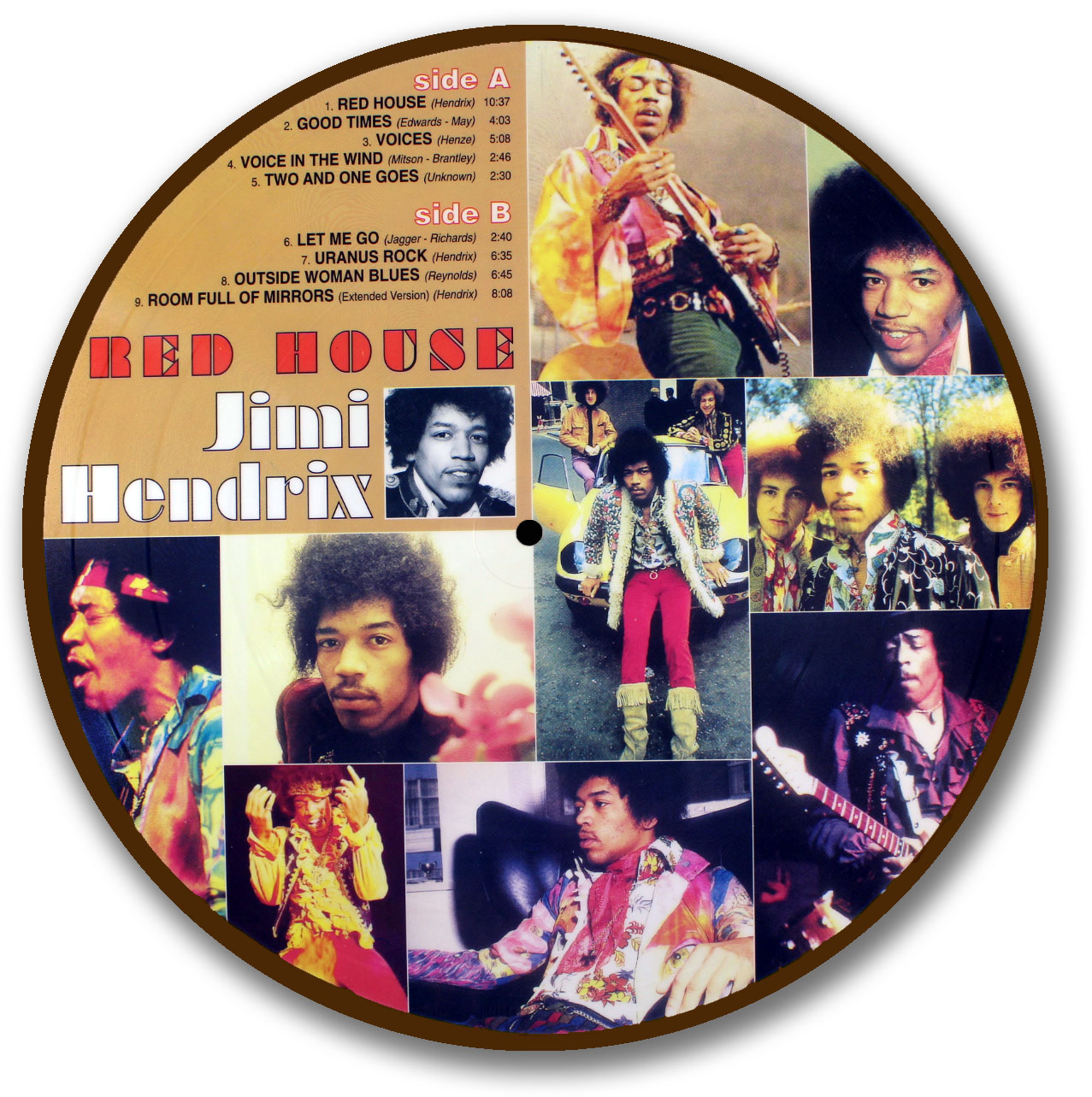 Jimi Hendrix, Red House Picture Disc