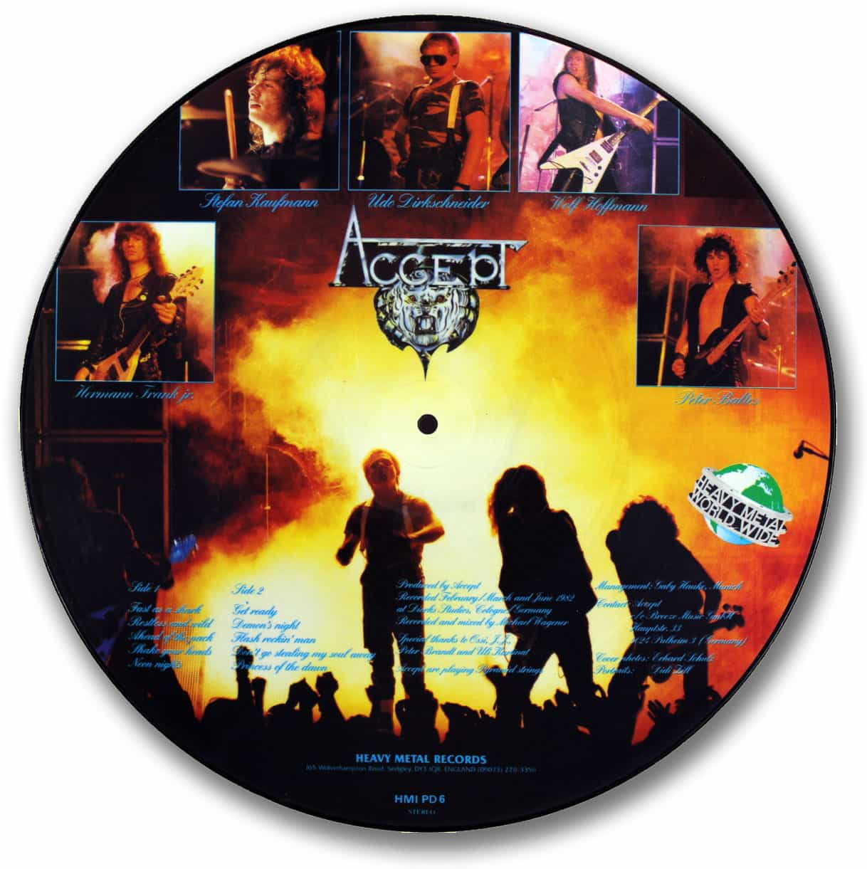 Accept, Restless and Wild Picture Disc