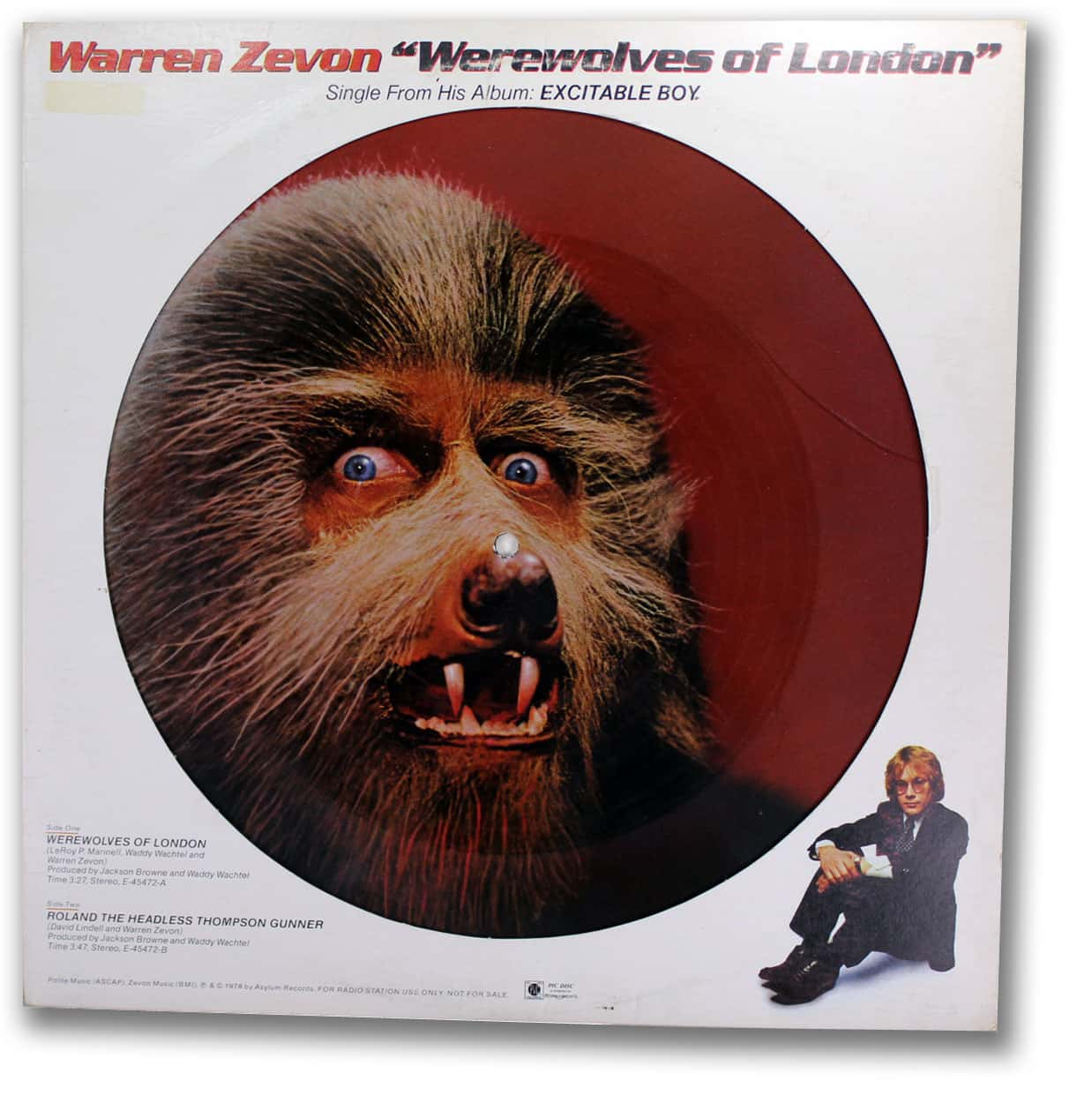 Warren Zevon, Werewolves of London Picture Disc