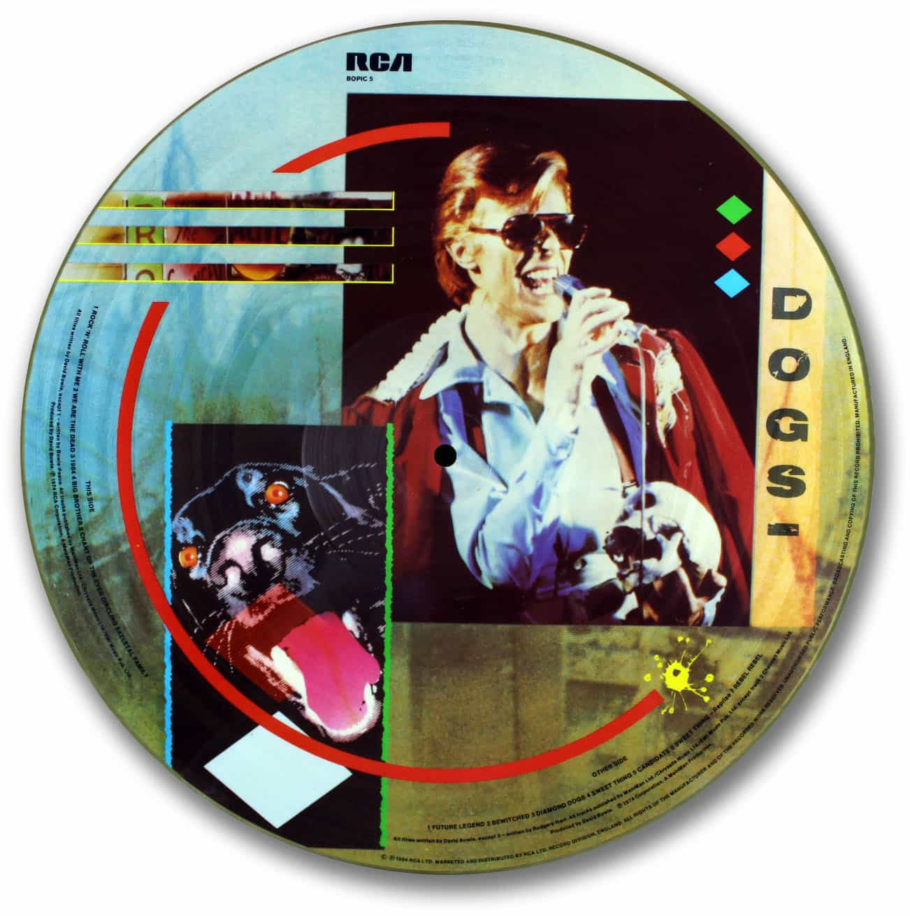 David Bowie Diamond Dogs Picture Disc