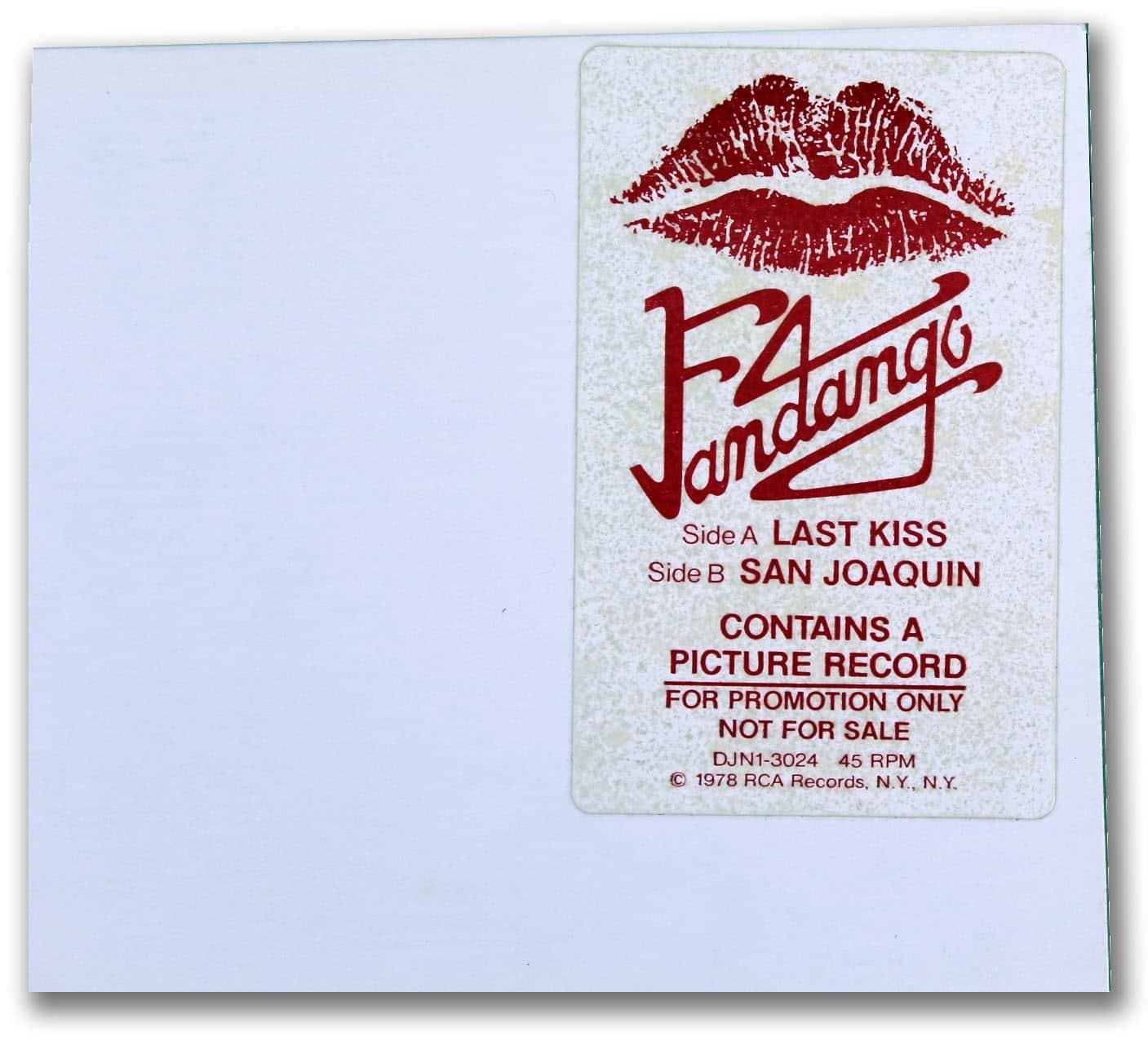 Fandango, Last Kiss Picture Disc