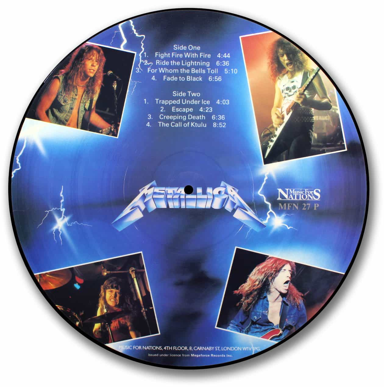 Metallica, Ride the Lightning-Blue Version