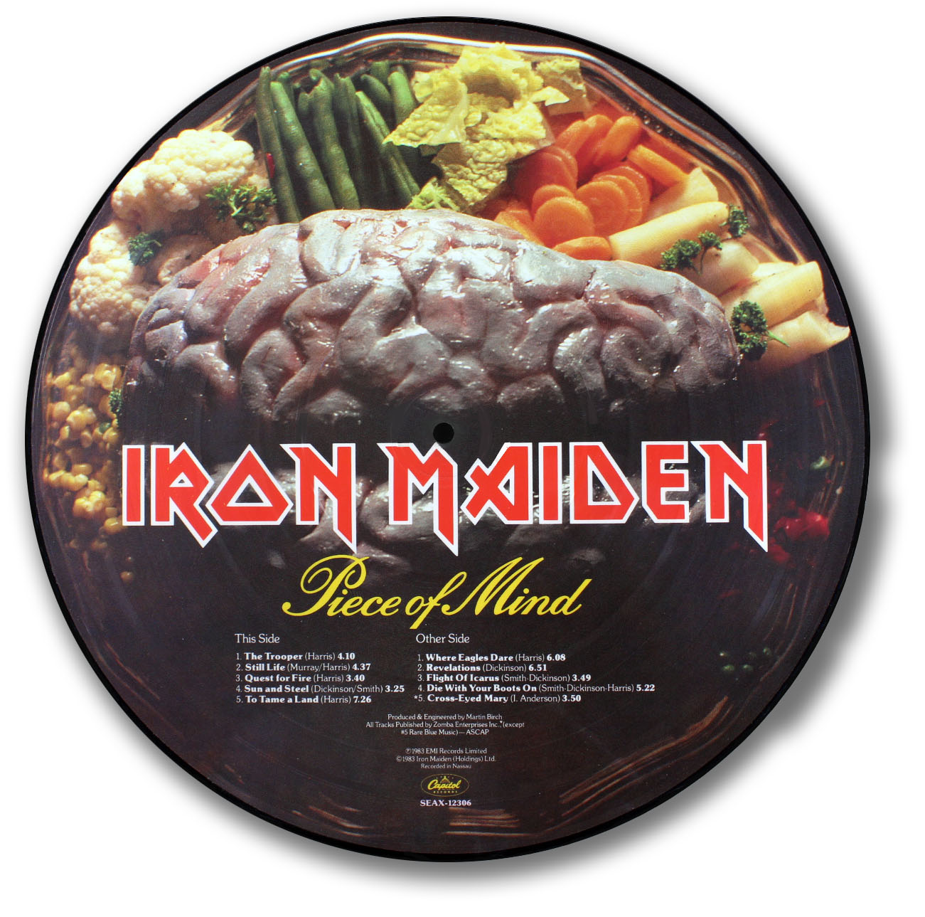 Iron Maiden Piece Of Mind Picture Disc