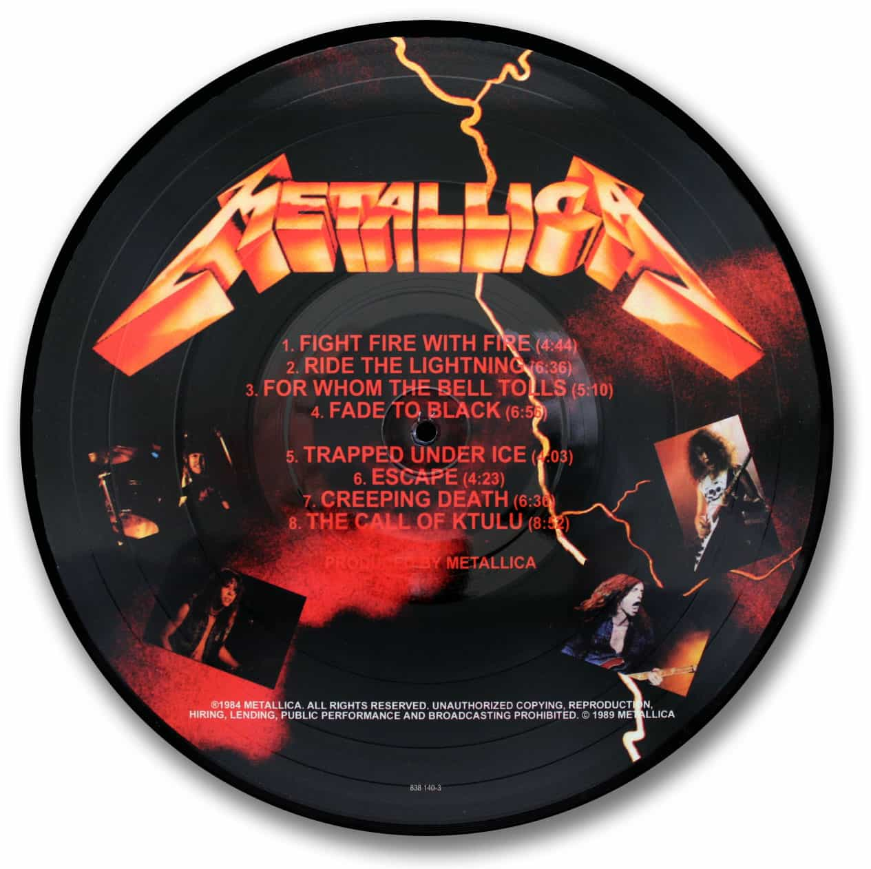 Metallica, Ride the Lightning Picture Disc