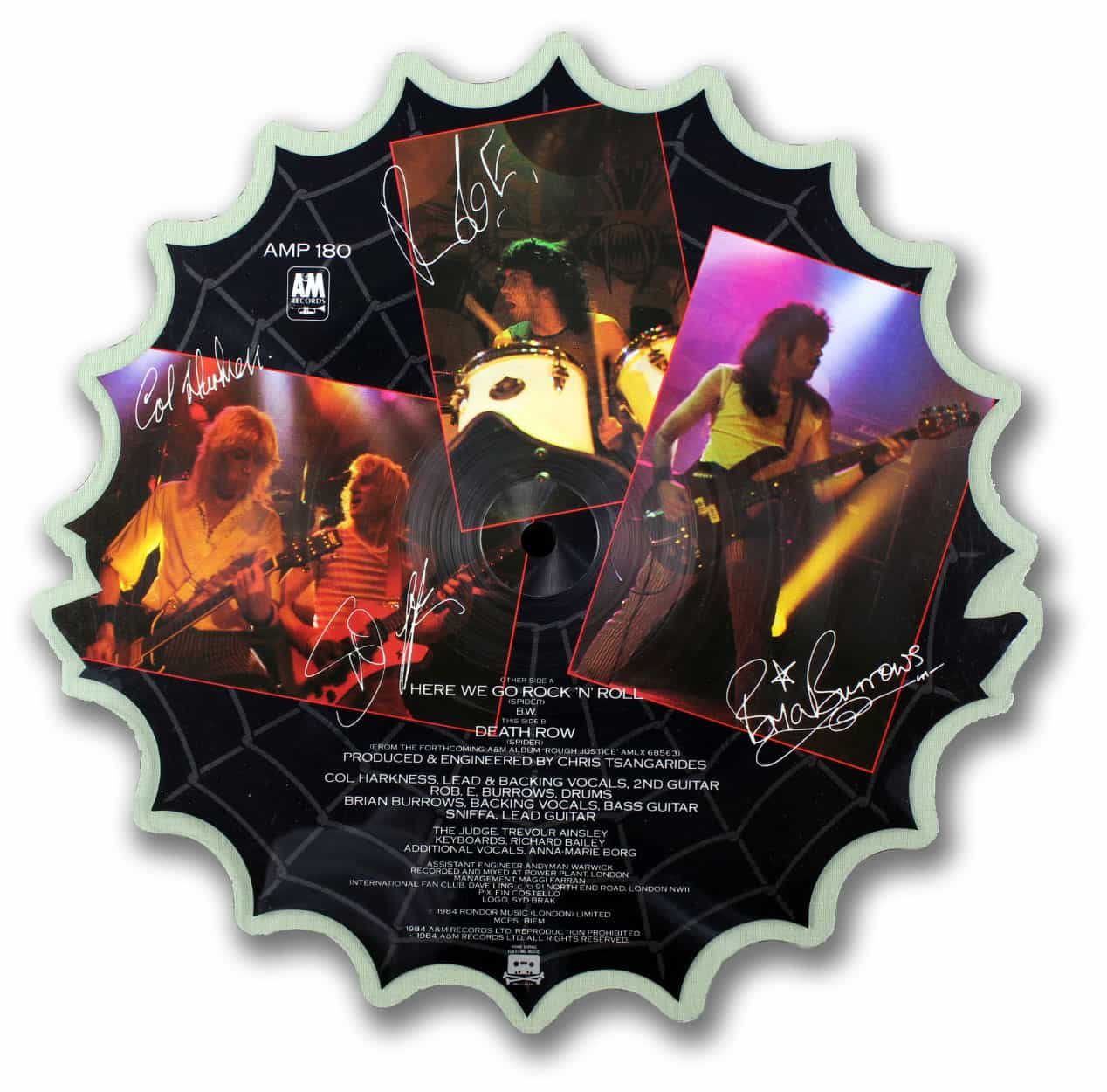 Spider Shaped Picture Disc