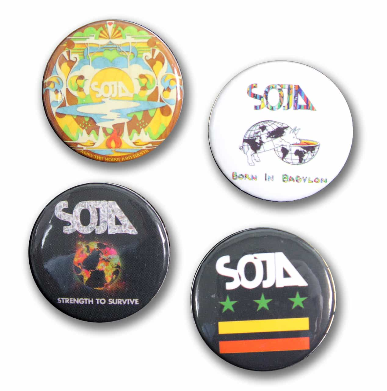 Soja, Poetry in Motion Promotional buttons