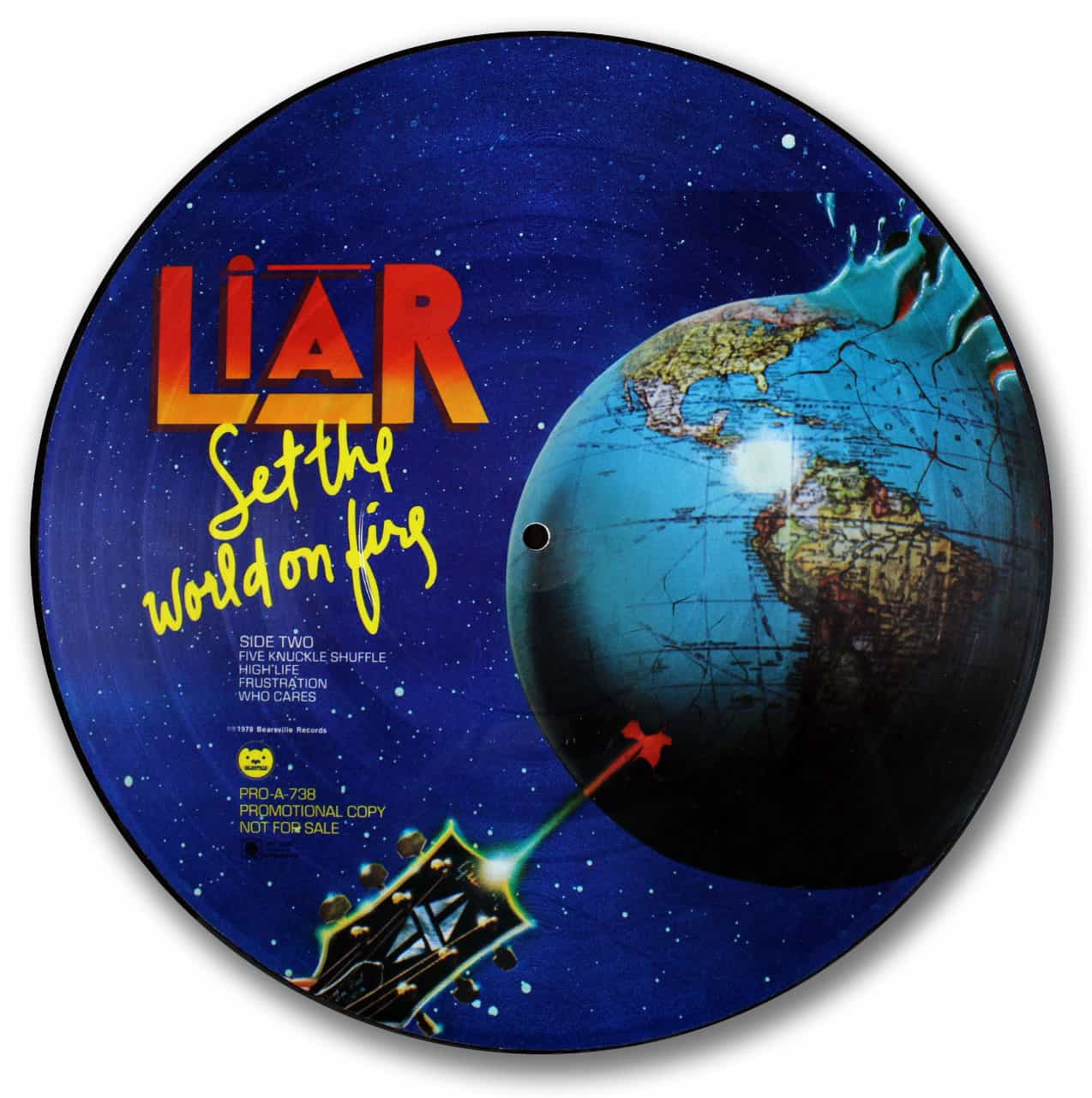 liar, set the world on fire picture disc
