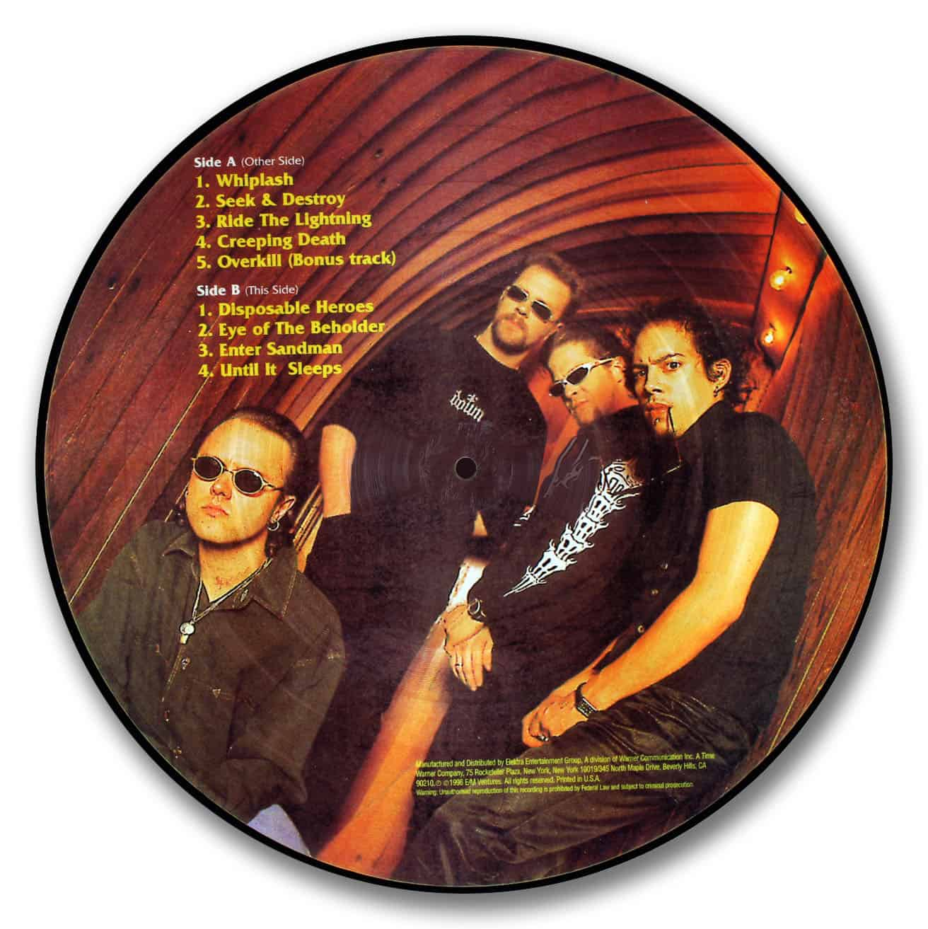 Metallica, Greatest Hits Picture Disc