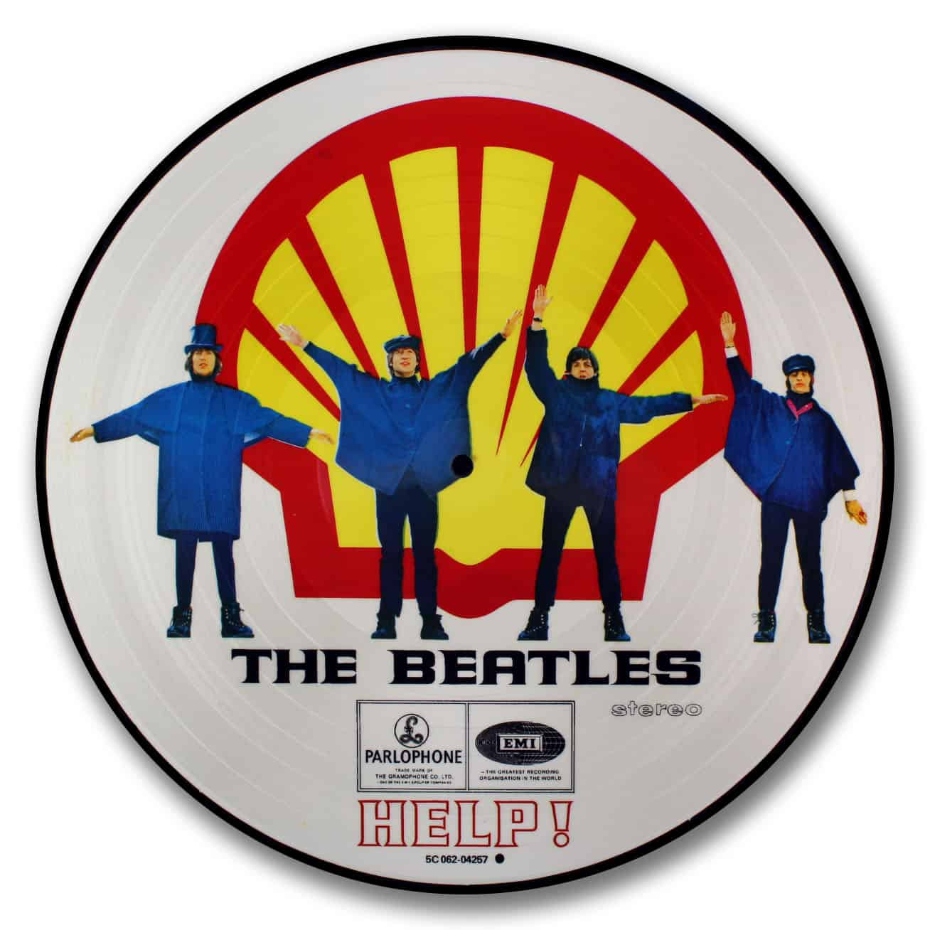 the beatles, help picture disc